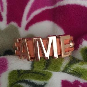BCBGeneration FAME Metal and Leather bracelet NWT